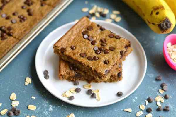 Banana Oat Breakfast Bars Recipe