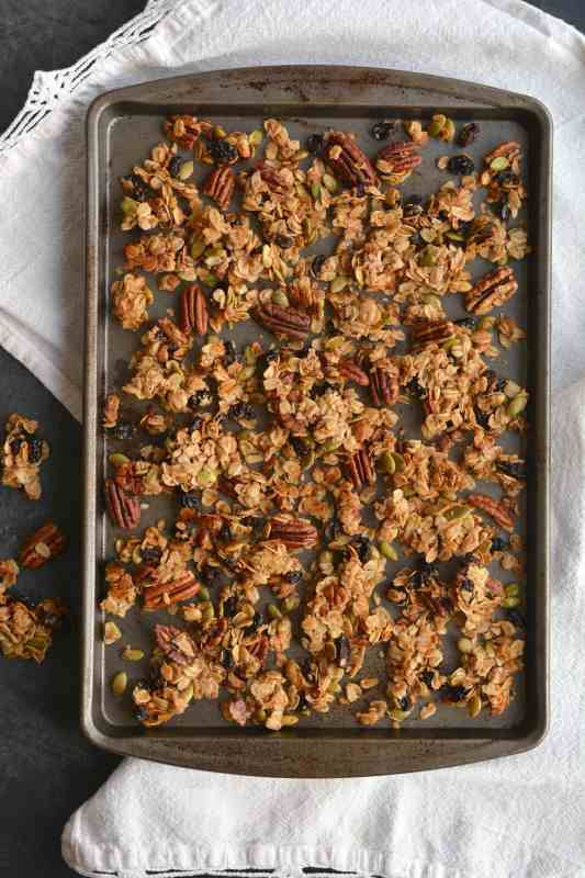 Easy Gluten Free Fall Breakfast Granola
