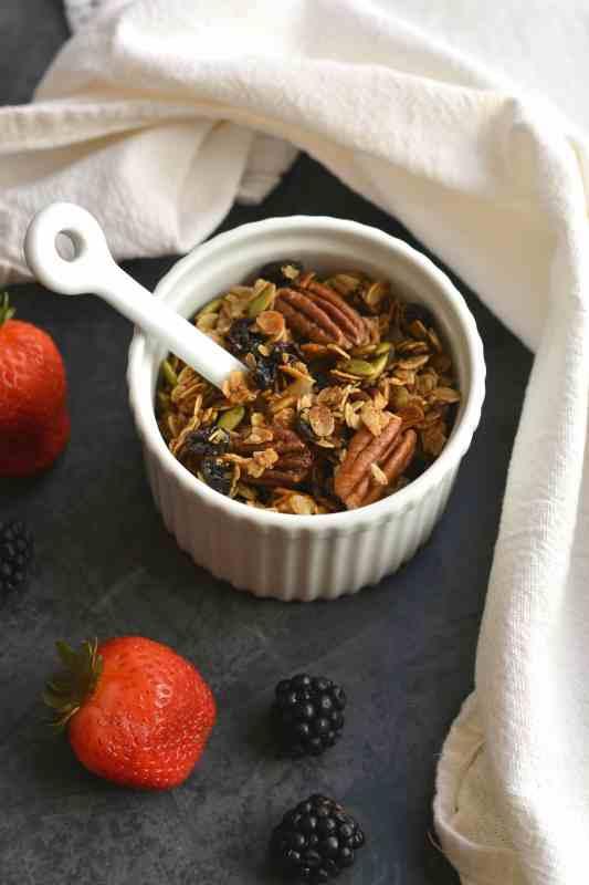 Easy Gluten Free Fall Breakfast Granola