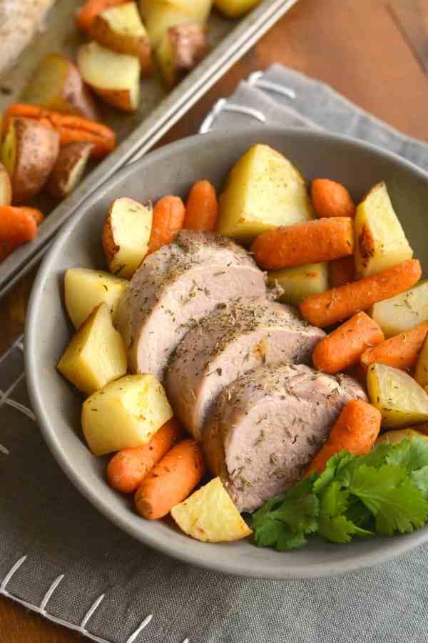 Sheet Pan Pork Tenderloin Meal Prep Idea