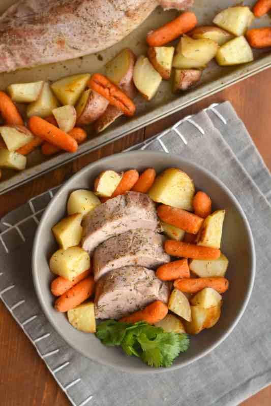 Sheet Pan Pork Tenderloin Meal Prep