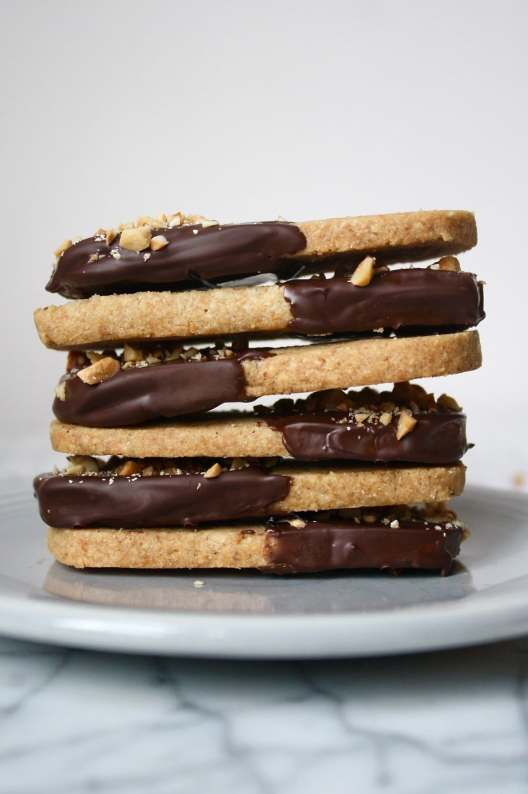Dark Chocolate Shortbread Cookies