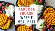 Kabocha Squash Waffle Meal Prep