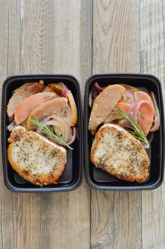 One Skillet Honey Dijon Pork Chops With Apples & Onions