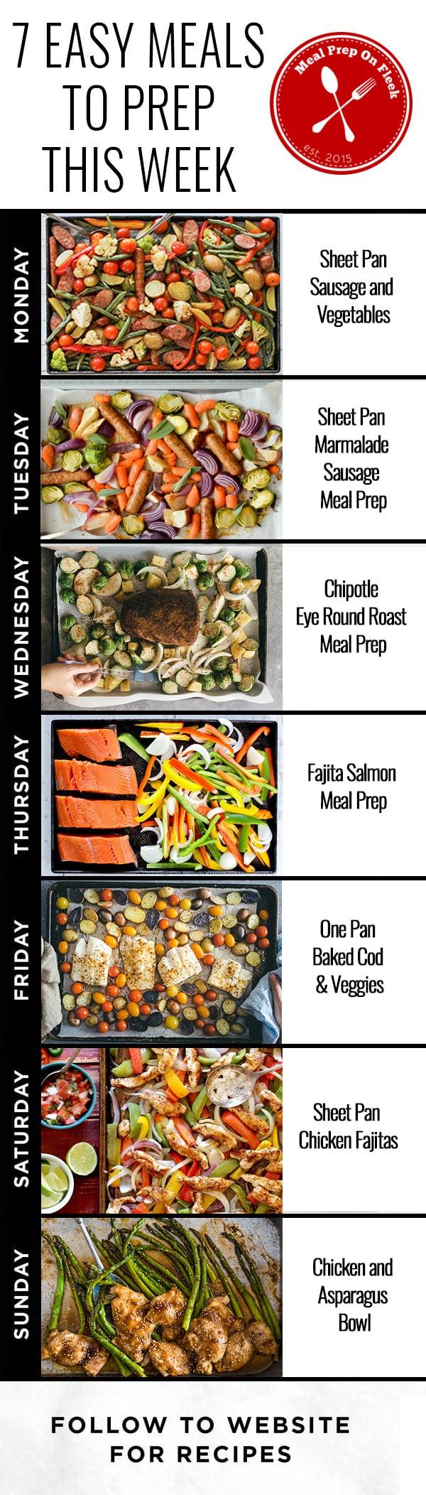 One Pan Make Ahead Meal Prep Recipes