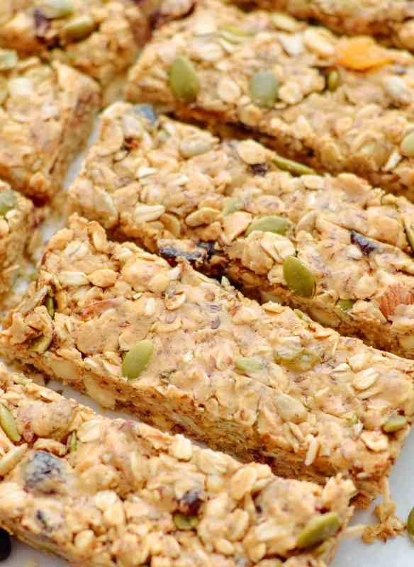 Nutty Peanut Butter Trail Mix Bars
