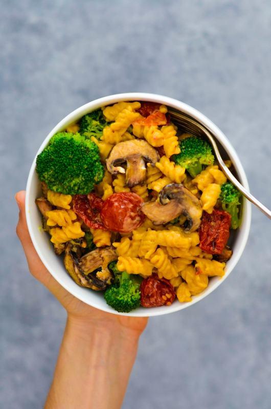 Sun Dried Tomato Broccoli & Portobello Mushroom Mac & Cheese 1