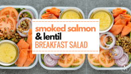 Smoked Salmon & Lentil Breakfast Salad