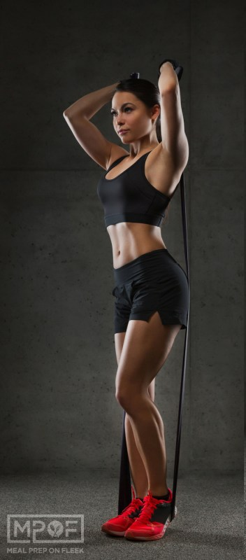exercise band workout for triceps