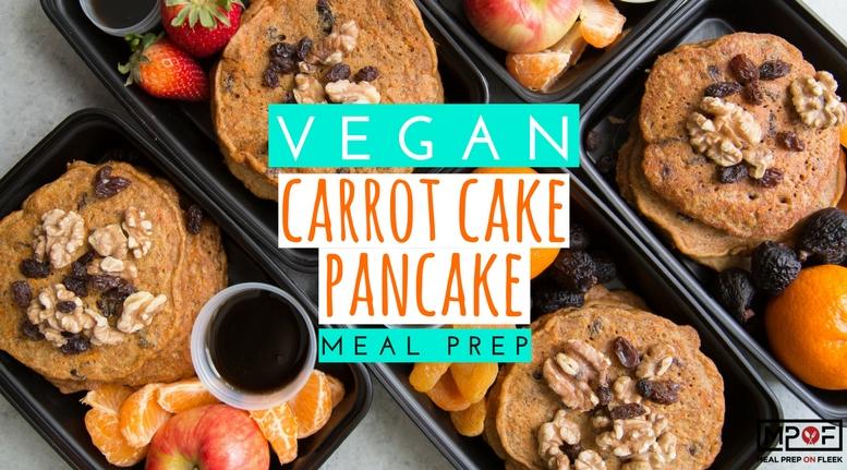 (Vegan) Carrot Cake Pancake Meal Prep blog