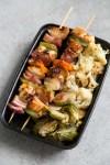 Paleo Hawaiian Chicken Teriyaki Skewer Meal Prep