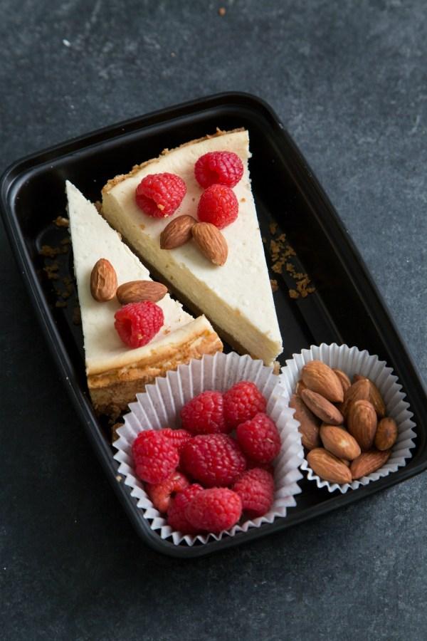 Keto Fresh Raspberry Cheesecake
