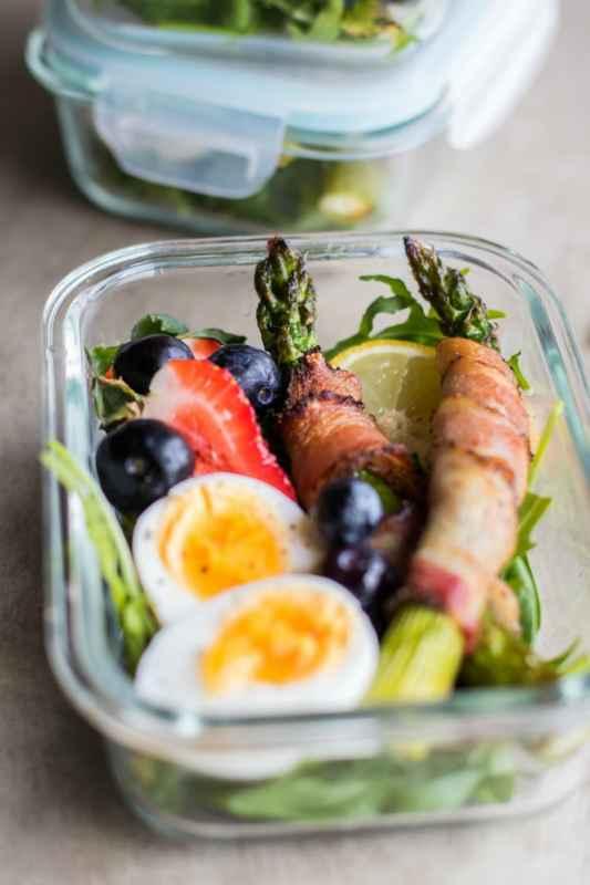 Keto Bacon Wrapped Asparagus Breakfast Bowls