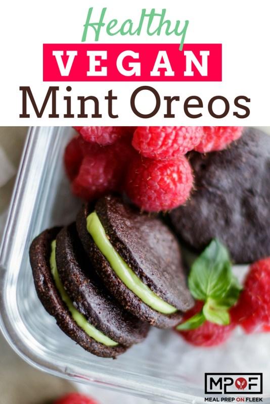 Healthy Vegan Mint Oreos