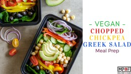 Vegan Chopped Chickpea Greek Salad Meal Prep