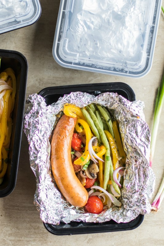Keto Dinner Recipes : Sausage Grill Packet Meal Prep