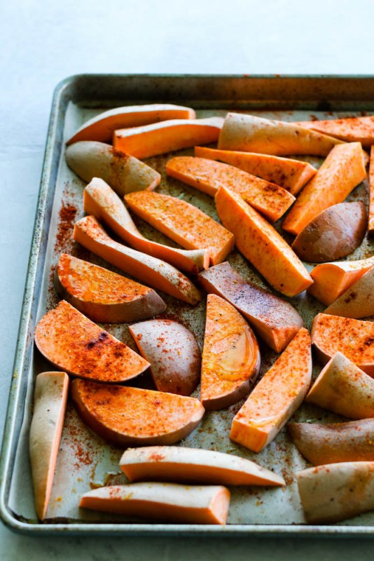 Sweet Potato Wedges With Tahini