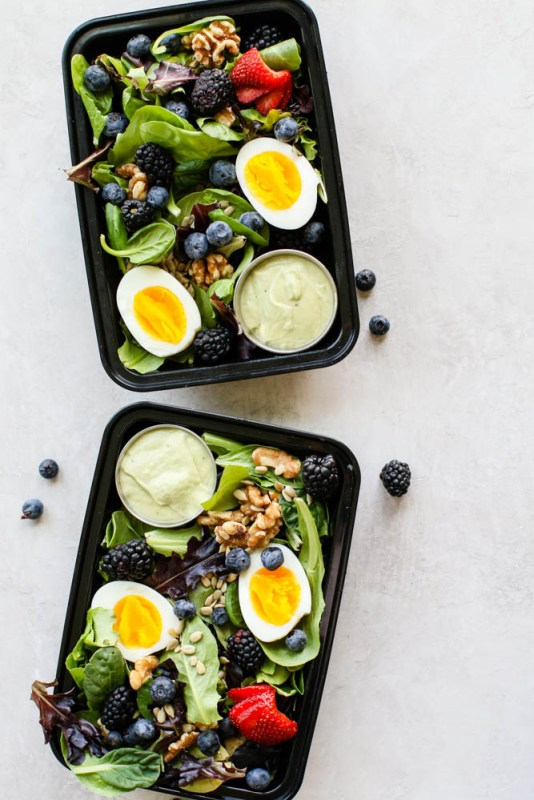Summer Breakfast Salad with Avocado Dressing-3