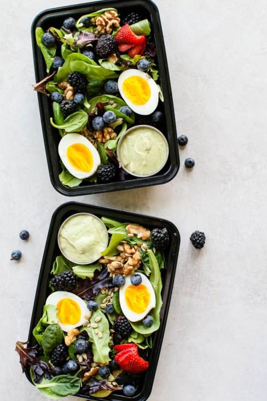 Summer Breakfast Salad with Avocado Dressing-3
