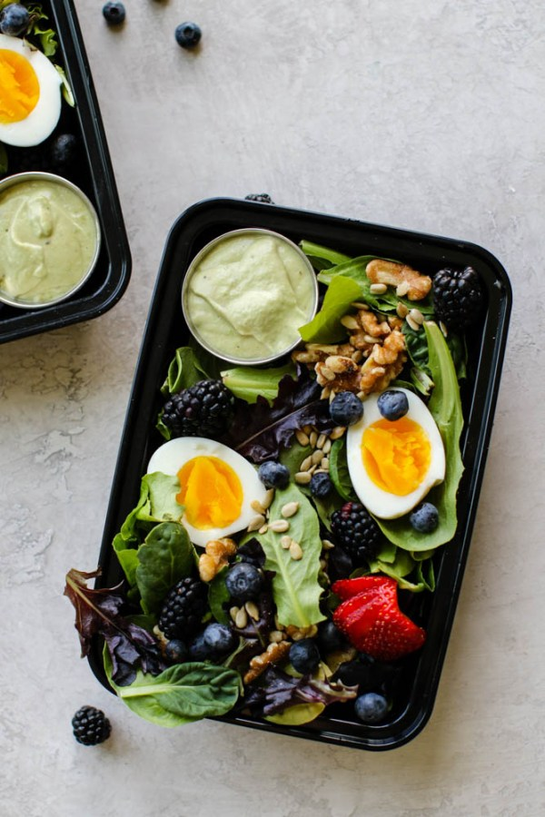 Summer Breakfast Salad Meal Prep