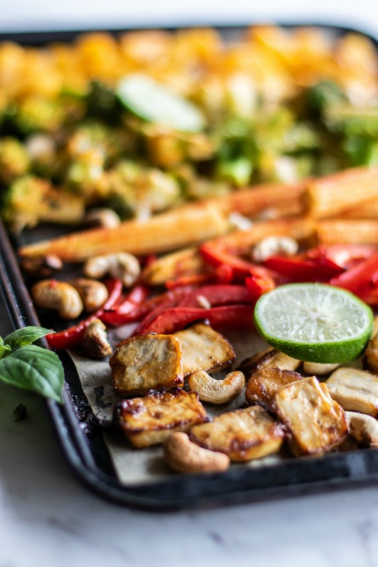Thai Chili Tofu Sheet Pan