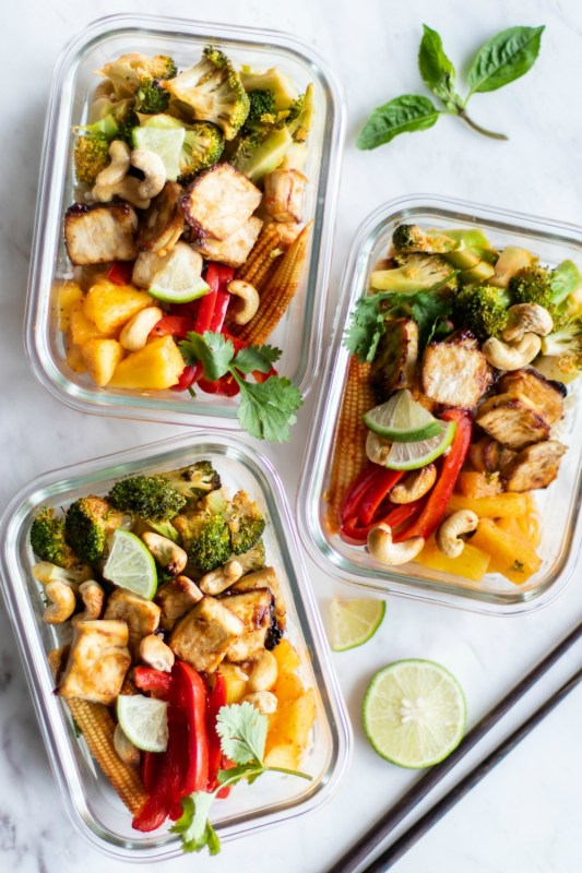 Thai Chili Tofu Sheet Pan