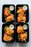 Whole30 Buffalo Chicken Stuffed Pepper Meal Prep --4