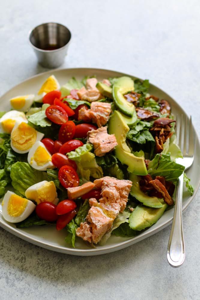Salmon Cobb Salad Meal Prep