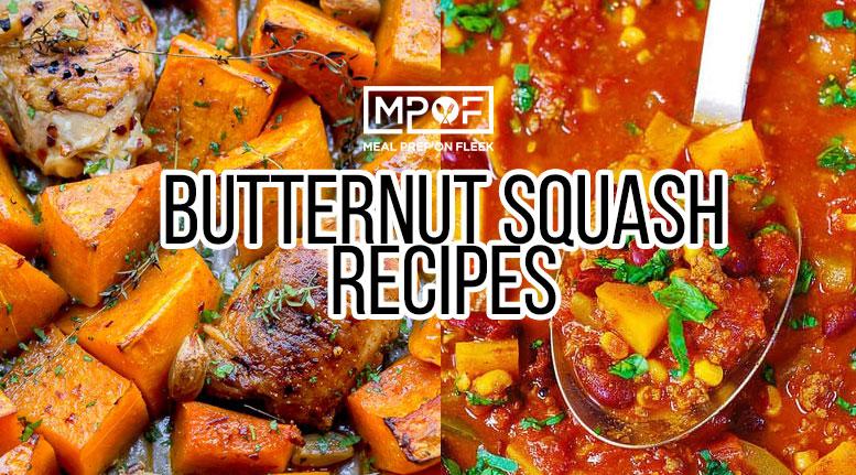 easy butternut squash meal prep recipes