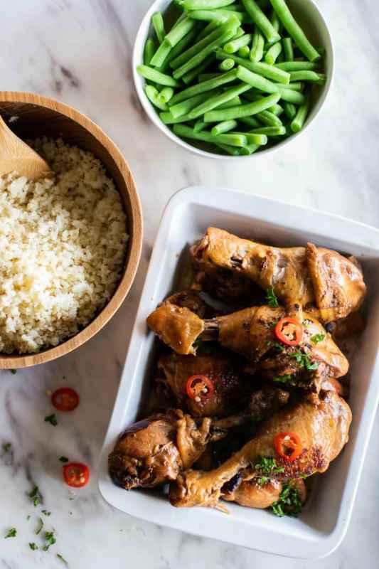 Chicken Adobo Meal Prep