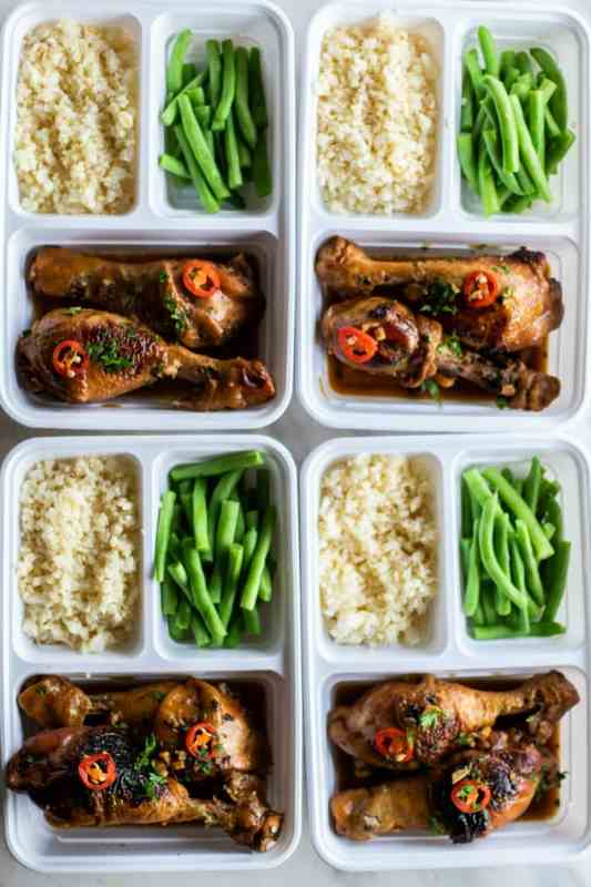 Chicken Adobo Meal Prep