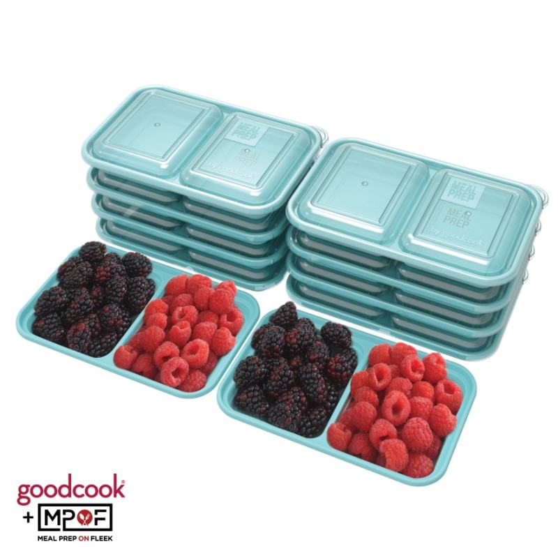 Snack Size Meal Prep Containers Blue
