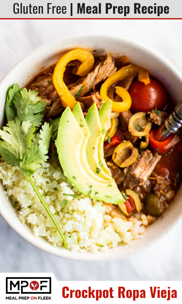 Gluten Free Crockpot Ropa Vieja Meal Prep