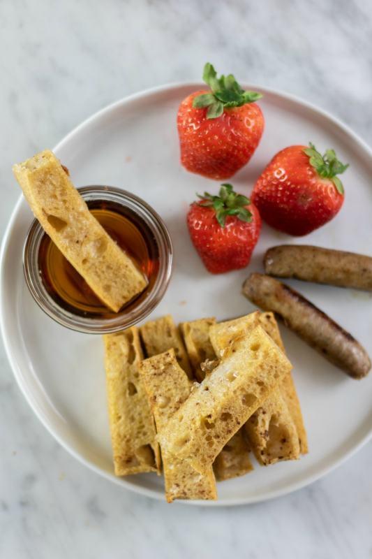 French Toast Sticks & Breakfast Sausage Sheet Pan