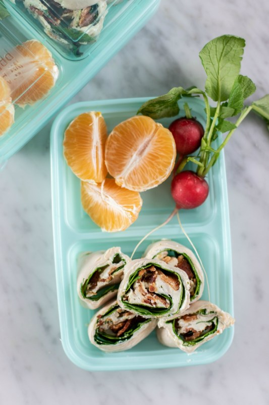 Keto Turkey Ranch Pin Wheel Snack Boxes