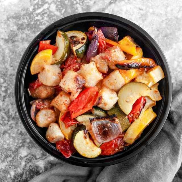 Roasted Mediterranean Cauliflower Gnocchi & Veggies