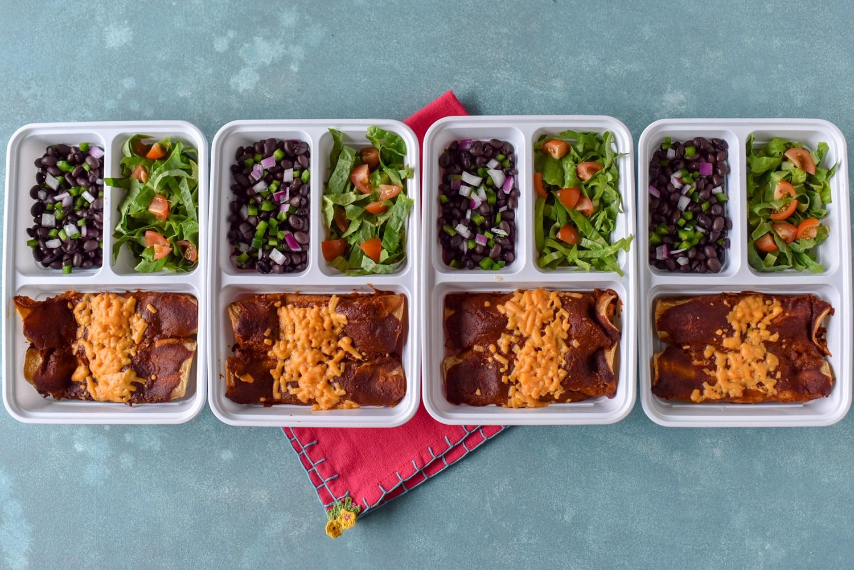 Mole Tempeh Enchiladas