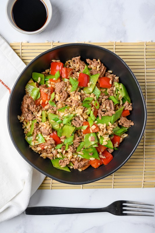 Beef and Vegetable Fried Rice