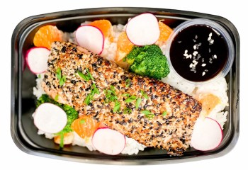Sesame Crusted Soy Ginger Salmon