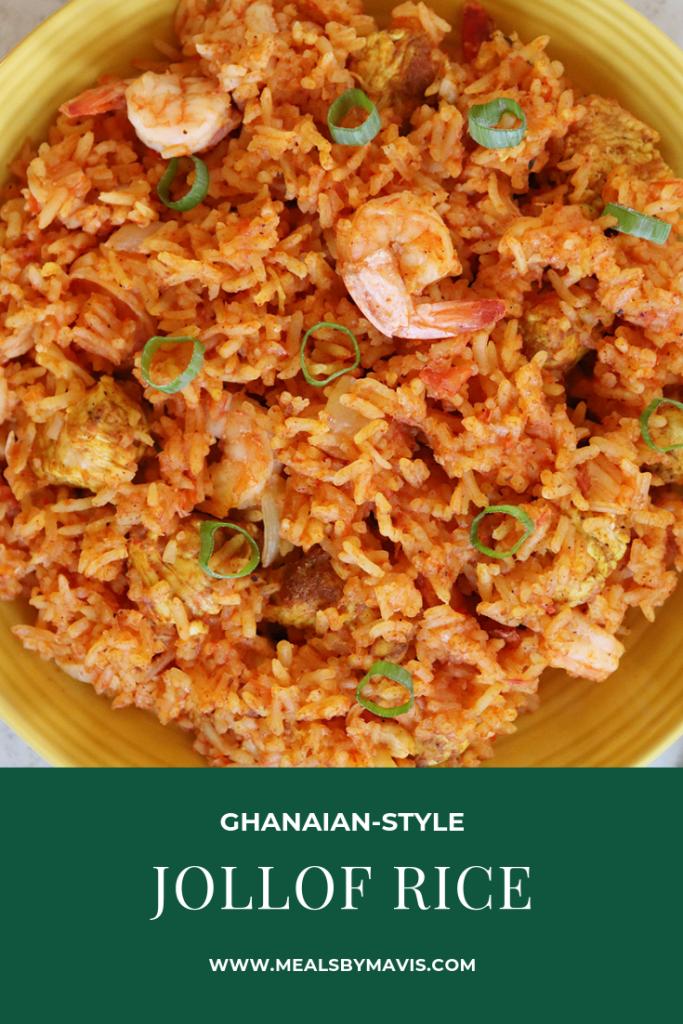 jollof rice (Ghanaian style)