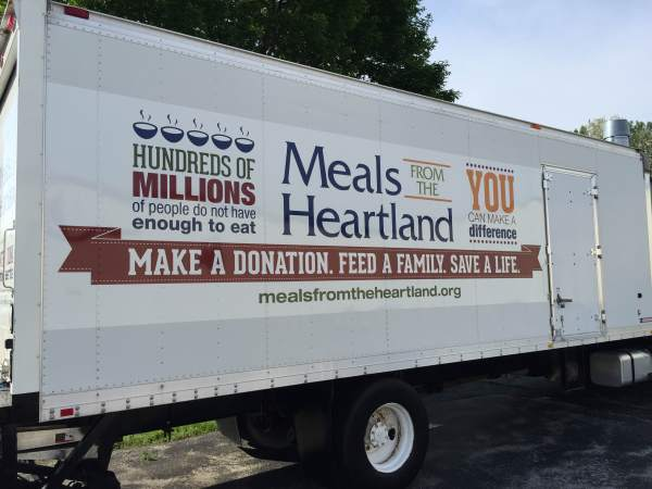 meals from the heartland, sigler companies, kenny & gyl, food for the hungry, feed the starving, packaged meals distribution