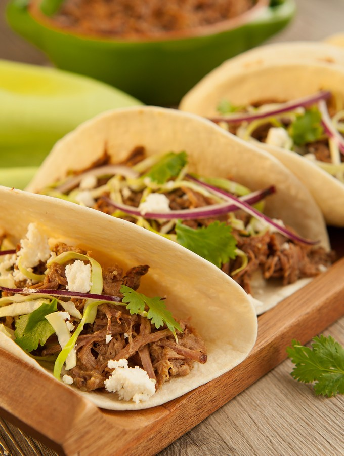 Sweet & Spicy Slow Cooker Beef Tacos