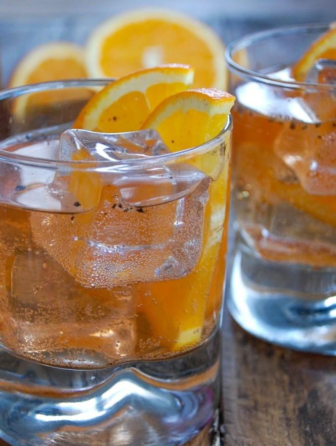 Sparkling Fig Vodka Old Fashioned