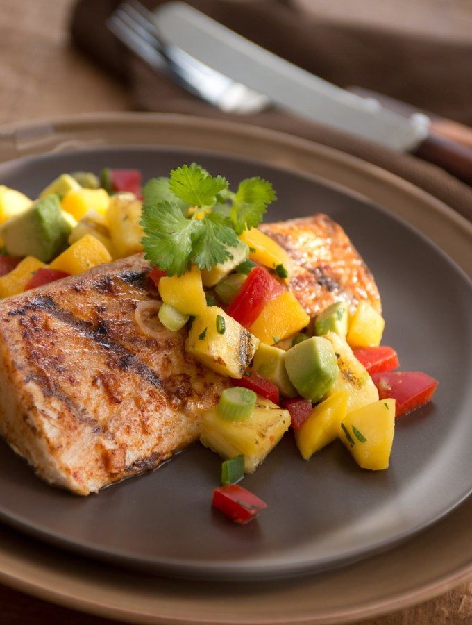 Tequila Lime Mahi-Mahi with Grilled Pineapple Salsa