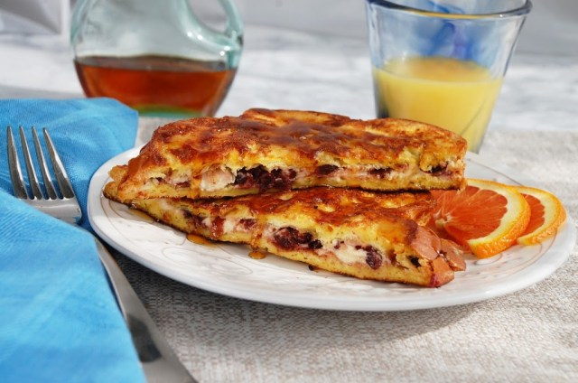 Cranberry Goat Cheese Stuffed French Toast