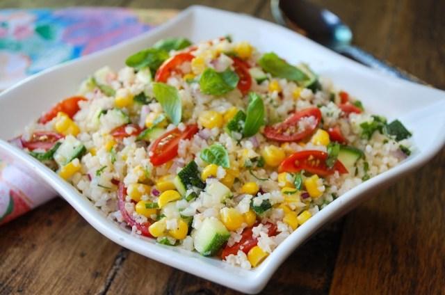 Summer Cauliflower Rice Salad