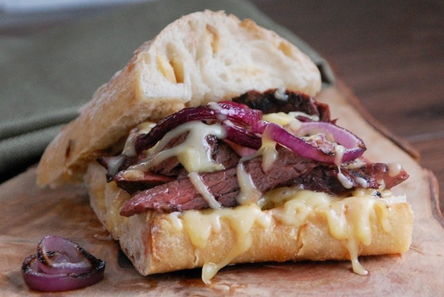 Grilled Steak Sandwich with Gouda and Grilled Onion