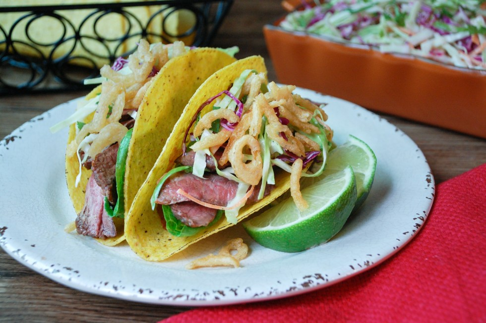 Steak Tacos with Chipotle Slaw
