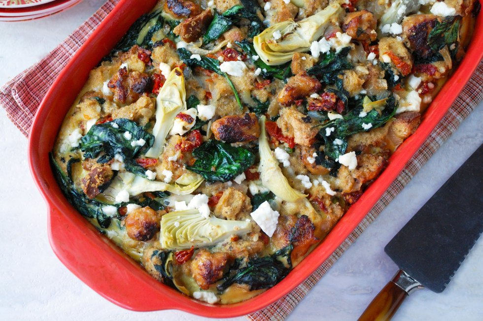 Mediterranean Breakfast Bake - Meals, Heels & Cocktails