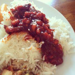 Rice with yak-gochujang